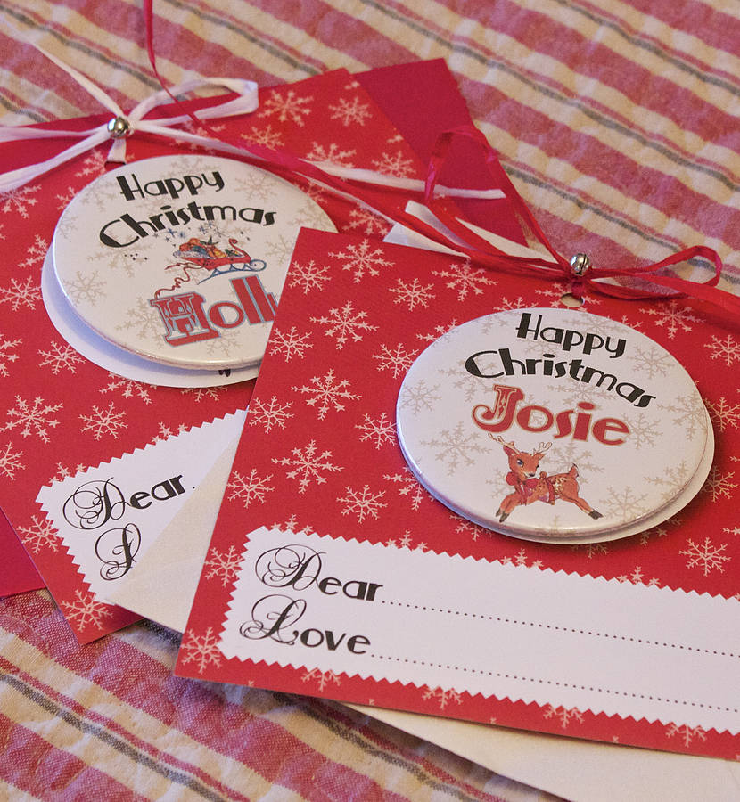 personalised christmas magnet card by bedcrumb | notonthehighstreet ...