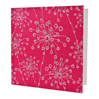 Pink Quirky Motifs Card