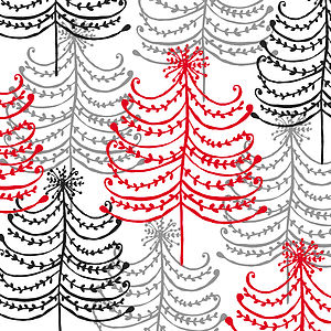 Doodle Trees Christmas Card - cards