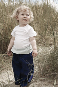 Relaxed, Natural Cotton Trousers For Children