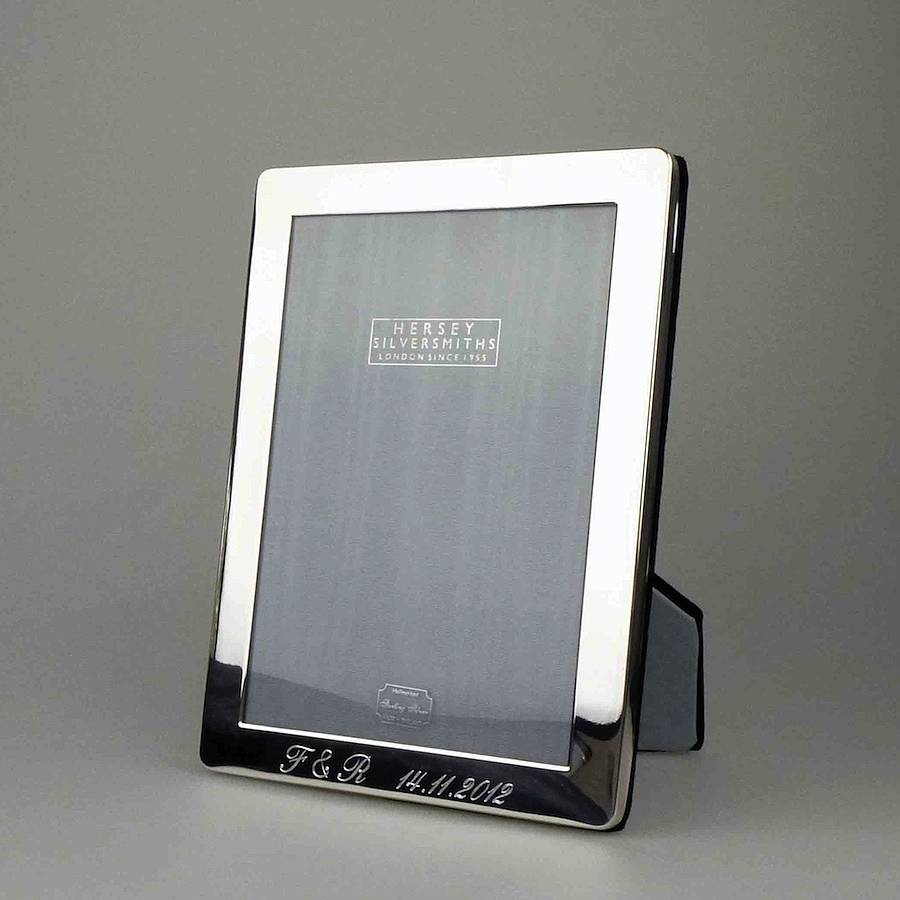 personalised solid silver photograph frames by hersey silversmiths ...