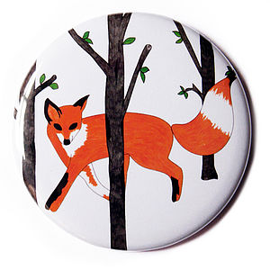 Curious Fox Pocket Mirror - mother's day gifts