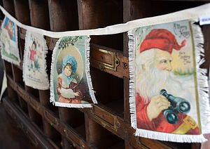 Vintage Christmas Card Bunting - view all decorations