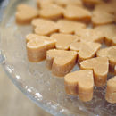 Scottish Tablet Heart Wedding Favour