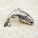 Wild Trout Tie Pin Antiqued Pewter