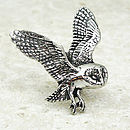 Barn Owl Tie Pin Antiqued Pewter