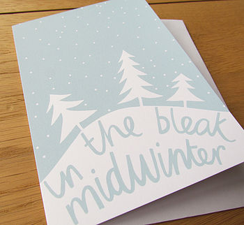 'Bleak Midwinter' Card