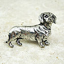 Daschund Tie Pin Antiqued Pewter