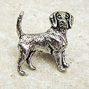 Beagle Tie Pin Antiqued Pewter