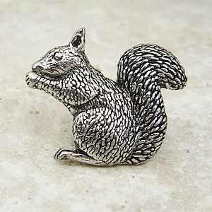 Antiqued Pewter Squirrel Tie Pin