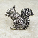 Squirrel Tie Pin Antiqued Pewter