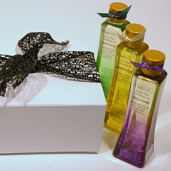 Trio Of Aromatherapy Bath And Massage Oils