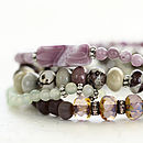 Gemstone Bead Bracelet Set