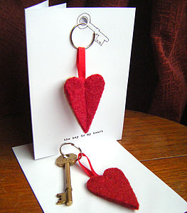 'Key To My Heart' Keyring Card - men's accessories