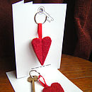 'Key To My Heart' Keyring Card