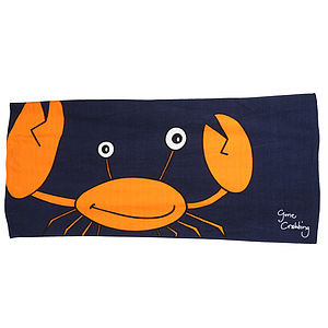 Crab Beach Towel - bed, bath & table linen