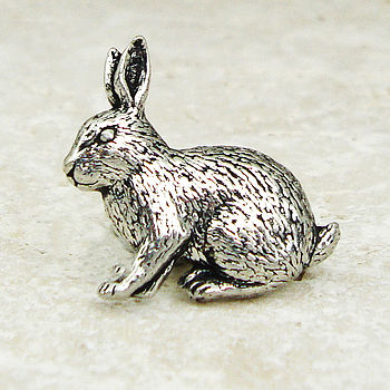 Wild Rabbit Tie Pin Antiqued Pewter
