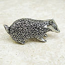 Badger Tie Pin Antiqued Pewter