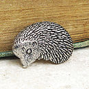 Wild Hedgehog Tie Pin Antiqued Pewter