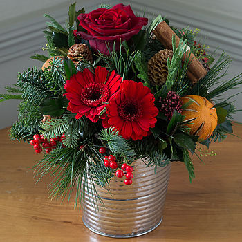Festive Spice And All Things Nice Flower Bucket