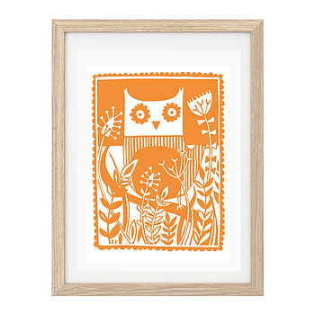 Owl Screen Print