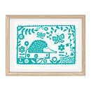Hedgehog Screen Print