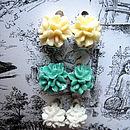 Clip On Floral Amelie Stud Earrings