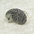 Hedgehog Ring Antiqued Pewter