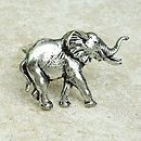 Wild Elephant Ring Antiqued Pewter