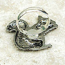 Wild Squirrel Ring Antiqued Pewter