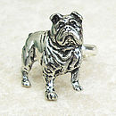 Bulldog Ring Antiqued Pewter