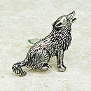 Wolf Ring Antiqued Pewter