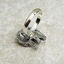 Wild Bear Ring Antiqued Pewter