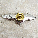 Bat Tie Pin Antiqued Pewter