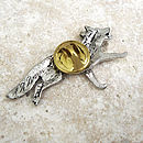 Wild Fox Tie Pin Antiqued Pewter