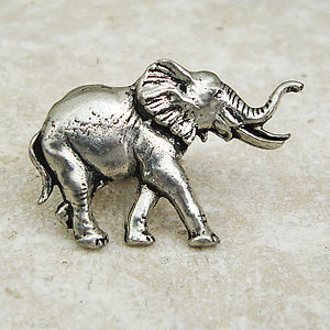 Antiqued Pewter Elephant Tie Pin