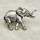 Elephant Tie Pin Antiqued Pewter