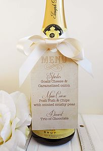 'Fly Away With Me' Table Menu Tags