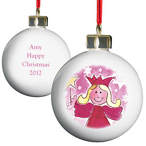 Personalised Fairy Christmas Bauble - view all decorations
