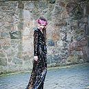 Audrey Sequin Fishtail Evening Dress