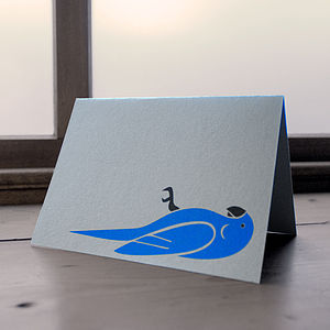 Dead Parrot Greetings Card - cards