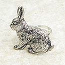 Wild Rabbit Ring Antiqued Pewter