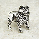 Bulldog Tie Pin Antiqued Pewter