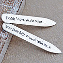 Thumb personalised daddy collar stiffeners
