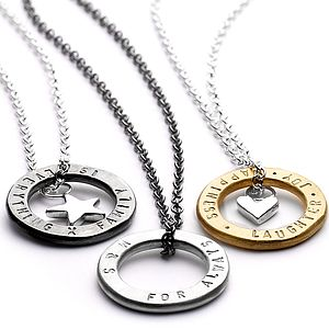 Personalised Hugs Charm Necklace - for your other half