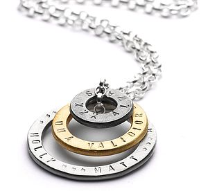 Personalised Group Hug Necklace - necklaces & pendants