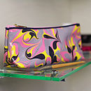 Amalfi Marbled Coated Cosmetic Bag
