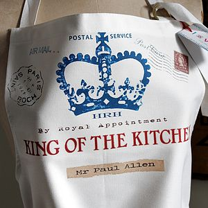 Personalised King Or Queen Apron