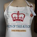 Personalised Queen of This Kitchen Apron