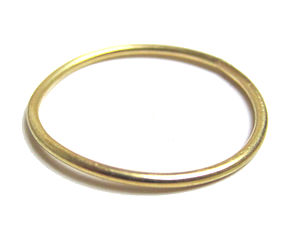 Gold Stacking Ring In Solid 18K Gold - rings